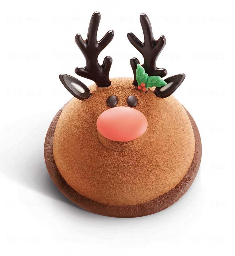 美心西饼最新圣诞蛋糕 3d圣诞鹿可爱登场