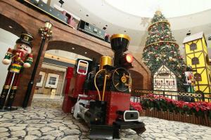 圓方聖誕火車主題佈置 (來源: ELEMENTS圓方Facebook專頁)
