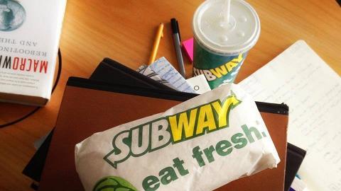 星期二的約定!Subway每周買一送一優惠