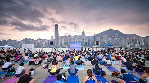 超過30場瑜伽、跳舞堂免費任上!中環海濱大型運動日