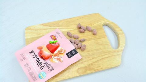 粉紅韓國草莓味杏仁 旺角、葵廣都買到