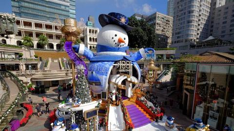 15米高雪人、首次冷煙花滙演!1881聖誕裝置