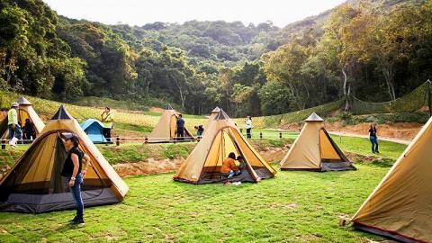 【沙頭角好去處】25萬呎農莊玩滑草!BBQ/露營/沙地繩網/攀石牆