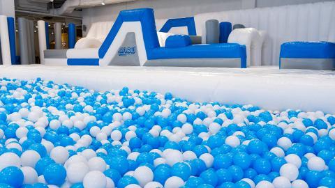 【大埔好去處】大埔2000呎充氣波波樂園!10米長彈床/大型波波池/滑梯