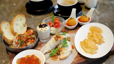 韓式餐廳Mad For Garlic蒜頭主題下午茶 蒜頭香蕉朱古力醬薄餅/蒜頭奶凍