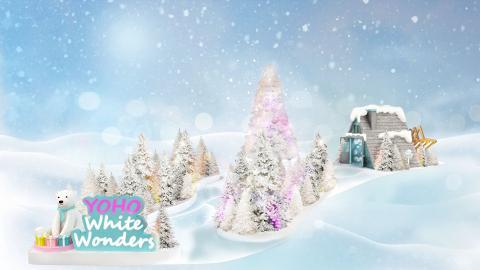 【聖誕節2018】元朗Yoho Mall 4000呎冰雪樂園登場!100棵白色聖誕樹+16米滑梯