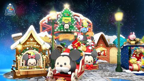 【聖誕節2018】旺角朗豪坊Tsum Tsum聖誕市集 迪士尼角色聖誕樹/巨型燈泡氣球