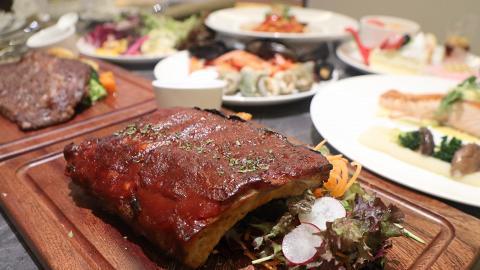 【葵涌美食】葵涌新酒店半自助晚餐買2送1優惠 叫主菜任食海鮮/沙律/甜品