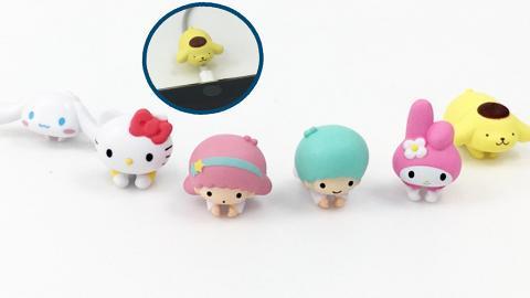 6大Sanrio角色Cable Bite扭蛋登場!Hello Kitty/布甸狗/玉桂狗/ My Melody