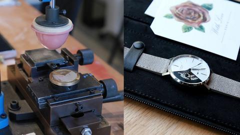 【情人節禮物2019】荃灣南豐紗廠EONIQ自製情侶手錶 親自刻名設計圖案砌專屬錶