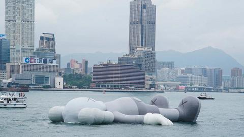 巨型KAWS公仔8日即告別香港!風力太強大會表示提早結束