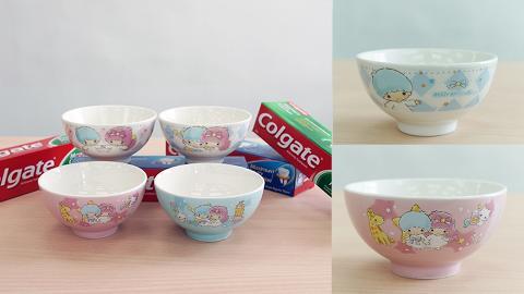 Sanrio高露潔牙膏套裝!$41.8禮盒送2個Little Twins Stars限量版日式陶瓷碗