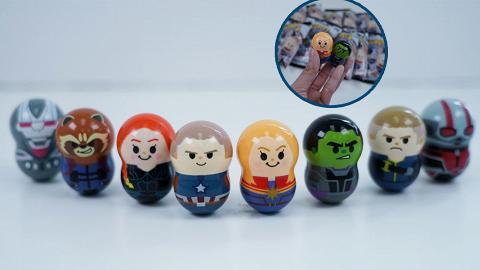 Marvel復仇者聯盟不倒翁扭蛋!8款Avengers角色 美國隊長/Captain Marvel/蟻俠
