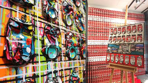 【中環好去處】可口可樂塗鴉畫展登陸中環!650罐巨型可樂牆+錄音卡帶畫作