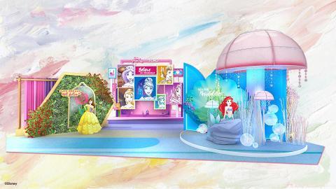 【暑假好去處】6大迪士尼公主登陸旺角!13呎高巨型影相位/期間限定店