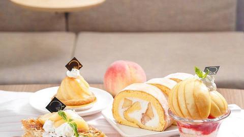 【中環美食】Café Life再推日本白桃甜品系列 歎原個白桃撻/芝士蛋糕/千層酥