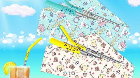 7-Eleven便利店推Sanrio不銹鋼飲管!玉桂狗+布甸狗環保布袋+粗幼飲管+清潔擦