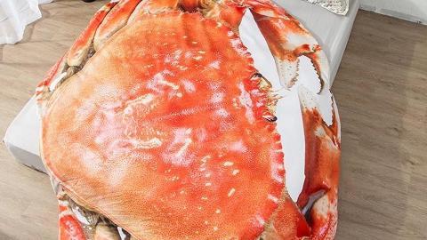 日本推超巨型螃蟹被!像真度高 冚實超大蟹殼陪你瞓覺
