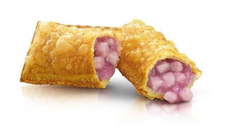 麥當勞人氣甜品期間限定香芋批回歸 熱辣辣香脆批配粒粒芋頭