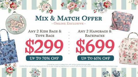 【減價優惠】Cath Kidston網店自選優惠 任揀2個迪士尼+碎花手袋/背囊$299起