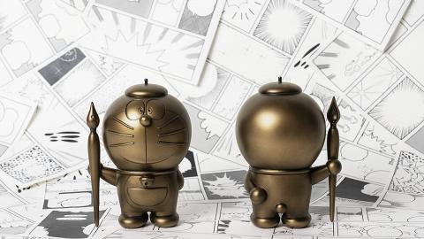 多啦A夢漫畫家造型鑄銅像登場!全球限量500枚 下星期公開預售