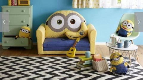 打造Minions主題睡房!迷你兵團入侵屋企變梳化床+巨型BOB/香蕉攬枕
