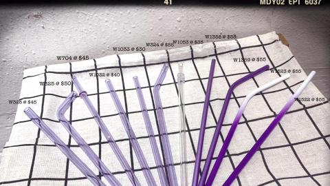 【銅鑼灣好去處】銅鑼灣紫色主題精品店 推出漸變紫色玻璃/不繡鋼環保飲管