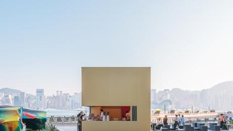 【尖沙咀美食】%Arabica尖沙咀海濱開設新分店 全新金色方形咖啡亭造型登場