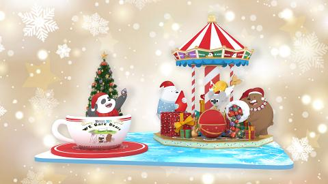 【聖誕好去處2019】 昂坪WeBareBears聖誕打卡館登場 萬花筒隧道/巨型旋轉木馬