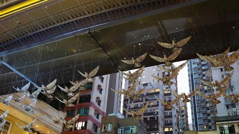 【聖誕好去處2019】50隻光影白鴿登陸灣仔利東街 英國倫敦華麗聖誕燈飾回歸