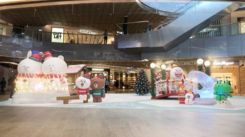 【聖誕好去處2019】Line Friends聖誕襲港!3.5米高熊大、CONY雪人/5大影相位