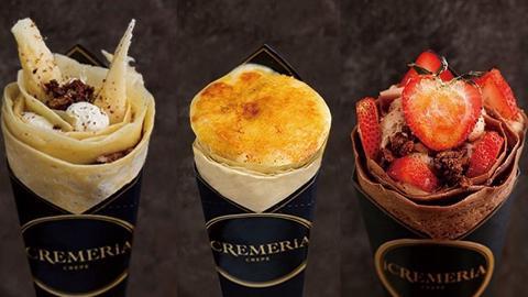【旺角美食】iCremeria焦糖燉蛋可麗餅新登場 特濃朱古力香蕉/士多啤梨口味