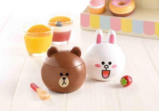 大頭BROWN楊枝甘露甜品杯及大頭CONY奶凍草莓慕絲甜品杯 $32/個