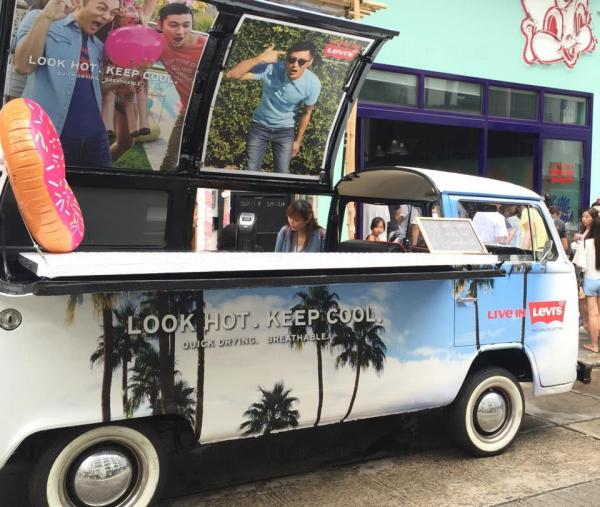 Levi's Cool Van 免費派冰凍雪條 (圖:FB@Levi's)