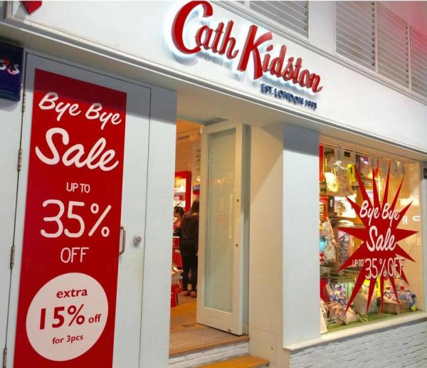 Cath Kidston希慎道旗艦店結業 低至65折 低至65折 圖:FB@Cath Kidston Hong Kong (Official)