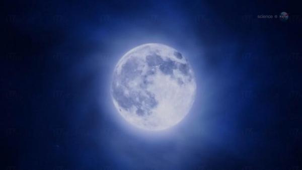 藍月亮高高掛 錯過要等2018年(圖:NASA網站)