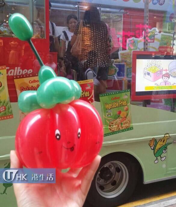 卡樂B推廣車出巡 任夾蔬菜小食