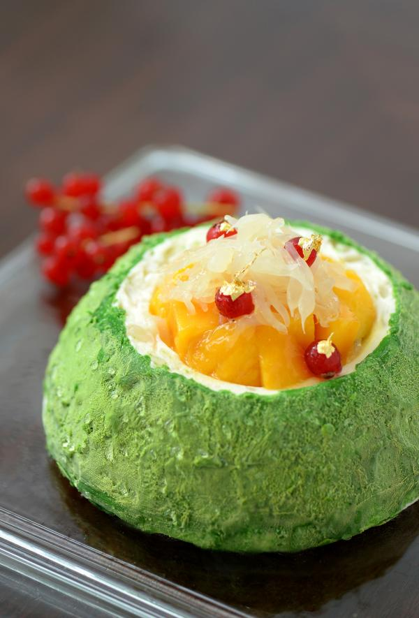 柚子芒果乳酪慕絲蛋糕
