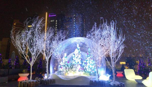 荔枝角D2Place聖誕飄雪花園(圖:D2place 官網)
