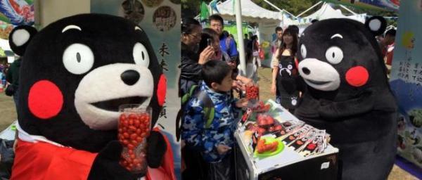 KUMAMON現身香港馬拉松 派發新鮮熊本番茄