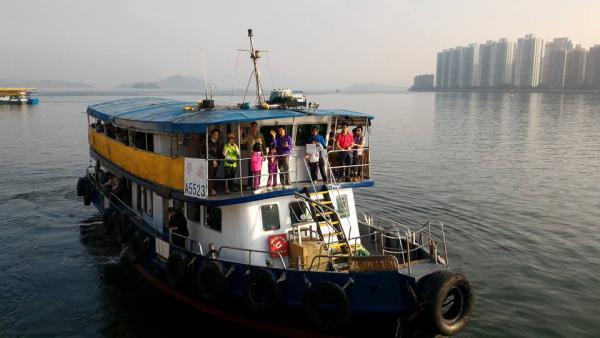 由馬料水上船。(圖: FB@聲威實業有限公司)