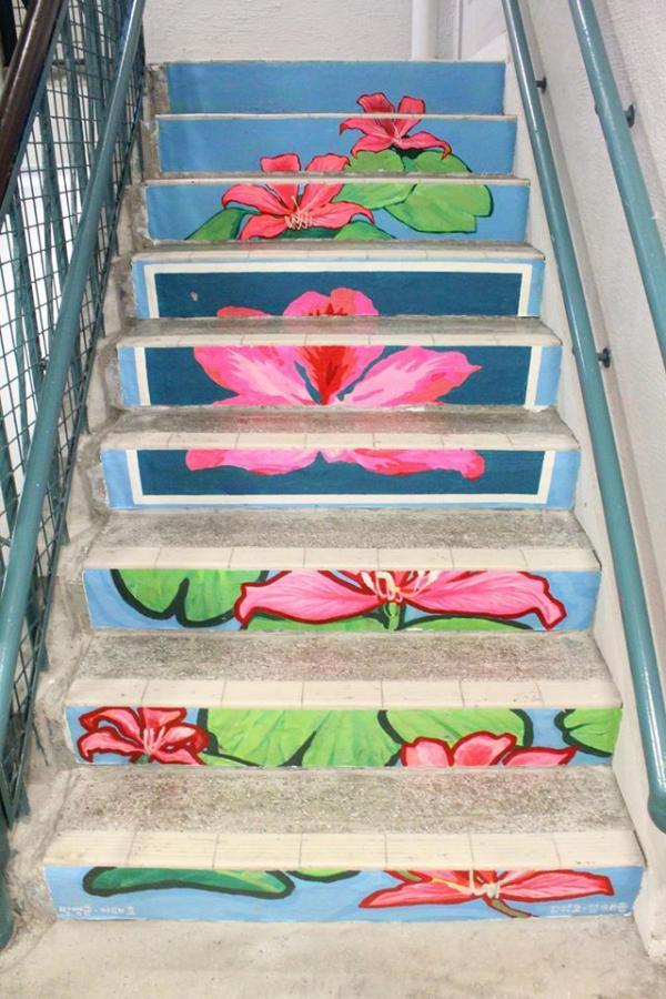 位於PMQ的樓梯畫 (圖: fb@PMQ)