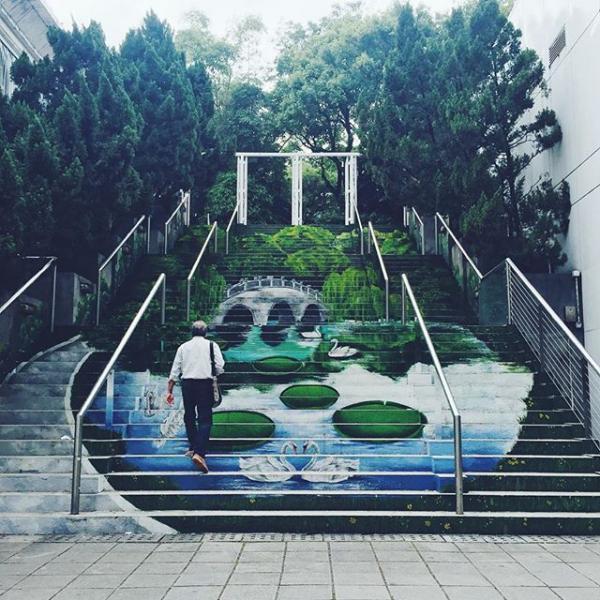 位於清真寺的樓梯畫 (圖: #uhkphoto投稿/IG@Foodiejacie)
