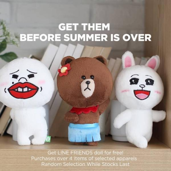 夏季服飾低至6折!LINE FRIENDS專門店