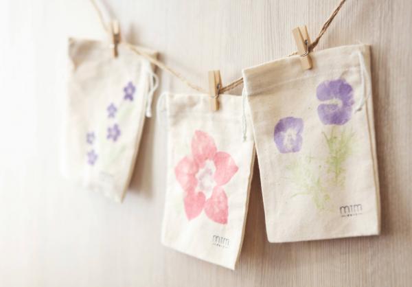 自製植物拓染小布袋