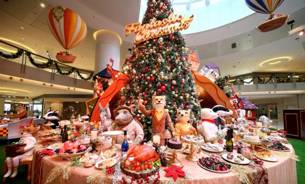 聖誕大餐為主題的場景。