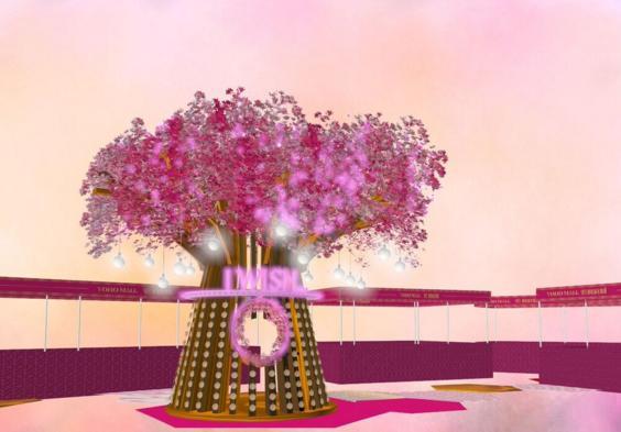 4米高鳥居、閃亮桃花樹!YOHO MALL和風許願陣
