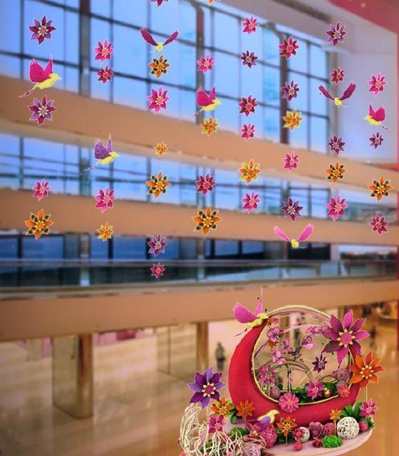中西合壁!太古城中心「布藝花鳥風車園」