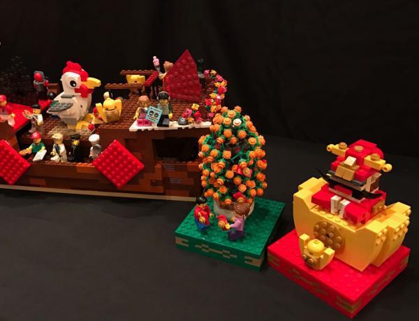旅發局花車LEGO模型。