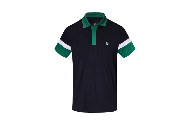 FILA White Line男裝綠色Polo Tee $198 (限量20件)